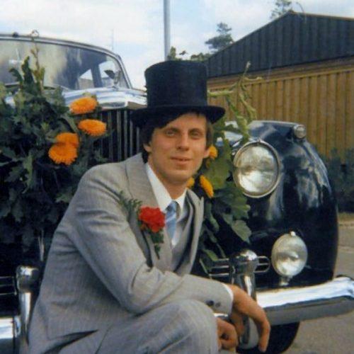 21 1978 Bentleyn på sin första bröloppskörning